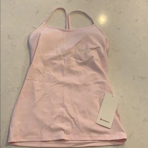 NWT Pink Lululemon Power Y Tank Top